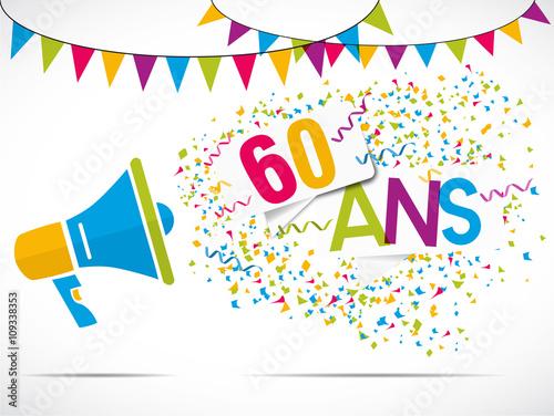 mégaphone : anniversaire 60 ans Canvas-taulu