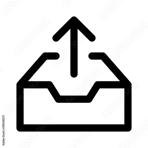 Valokuva  Message outbox / mail outbox line art icon for mail apps and websites