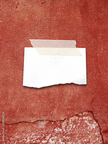 Close Up Of One Blank Ripped Piece Of Paper Sheet Frame With