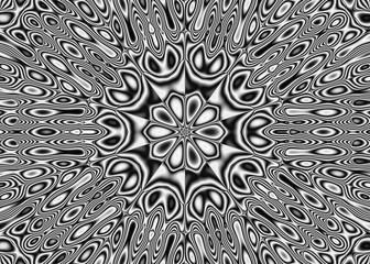 Plakat Abstract pattern - kaleidoscopic pattern