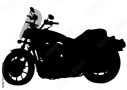 Foto op Canvas Motorfiets Old motor bike on white background
