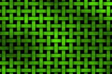 Neon Green Woven Pattern