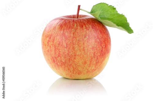 Leinwand Poster Apfel Frucht Obst Freisteller freigestellt isoliert