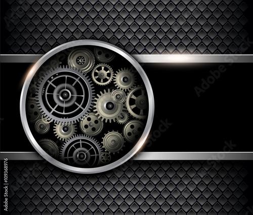 Fototapety czarne - bardzo ciemne czarny-mechanizm-3d