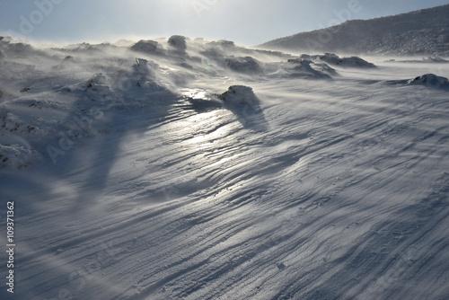 Obraz na plátně  安達太良山のシュカブラ