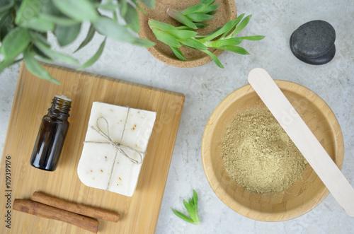 Kosmetyki naturalne - maseczka Obraz na płótnie