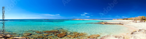 Foto op Canvas Strand Elafonisi Beach Panorama