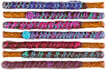 Row Of Colorfully Decorated Ch...
