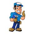 handyman holding a hammer
