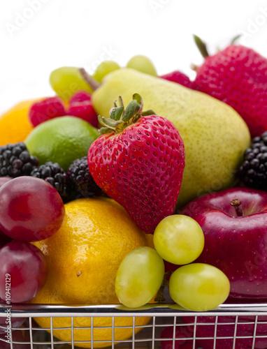 Poster Vruchten fruit pile