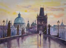 Charles Bridge In Prague, Czec...