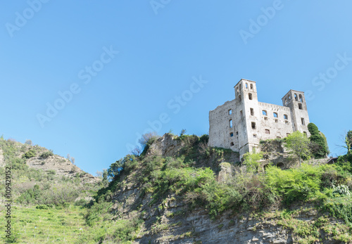 Fotografie, Obraz  Castle of isola bona in liguria near san remo