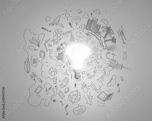 Fototapety, obrazy: Bright idea for plan
