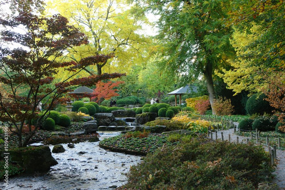 Japanischer Garten In Augsburg Im Herbst Foto Poster Wandbilder