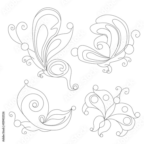 Butterfly Coloring Books For Adults Outlines
