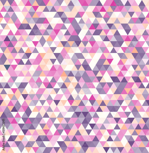 plakat Geometric abstract vector background. Colored triangle seamless pattern