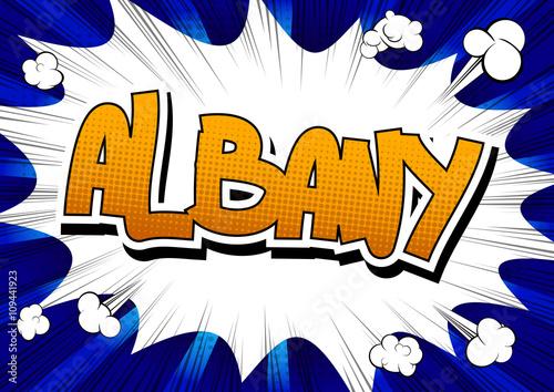 Fotografie, Obraz  Albany - Comic book style word.