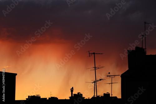 Fotografía Coucher de soleil sur les toits de Paris