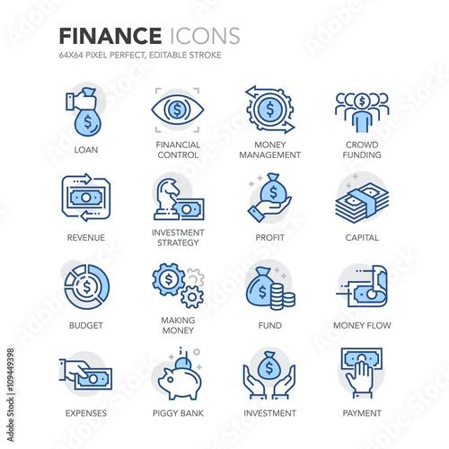 Fotografía  Blue Line Finance Icons