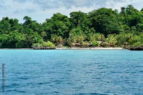 Spoed Foto op Canvas Eiland Beach on Bomba island. Togean Islands. Indonesia.