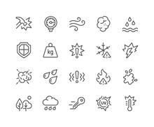 Line Influence Icons