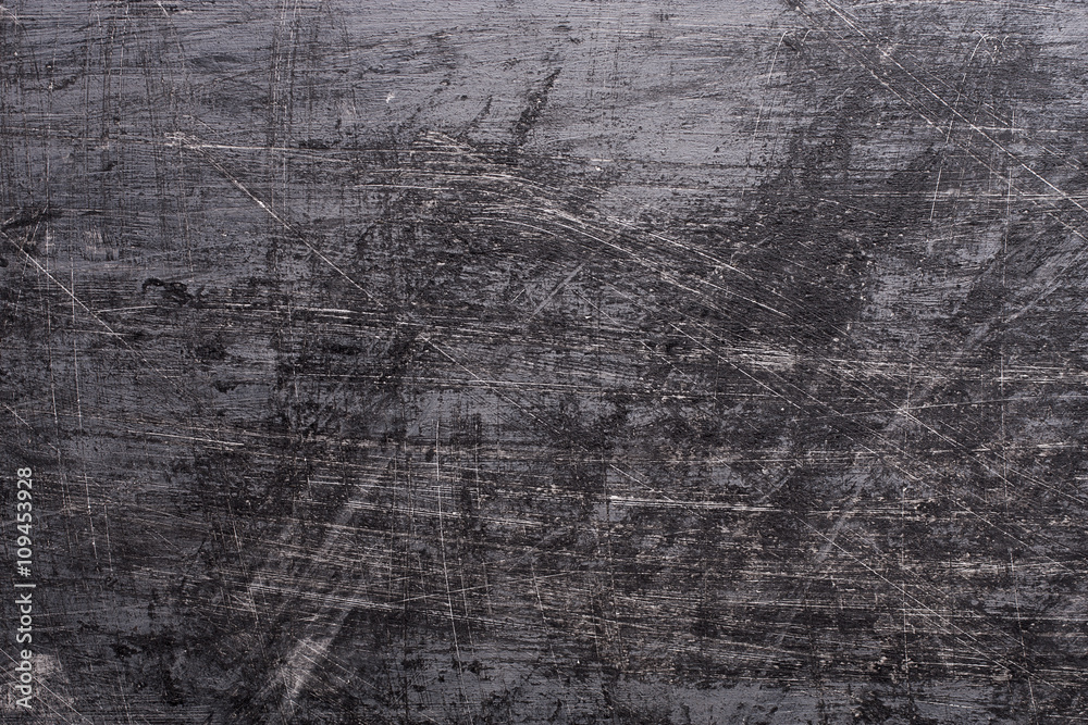 Fototapety, obrazy: Black Grunge background with scratches.