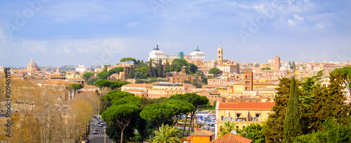 Wall Murals Algeria Rome panorama with monument and domes, Italy