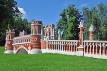 The Figure Bridge In Tsaritsyno Park Was Built In 1776-1778 Years By The Famous Russian Architect Vasily Bazhenov