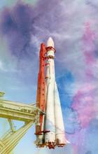 Copy Of The Carrier Rocket Vostok