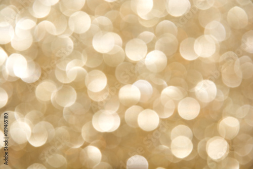 Poster De-focused blur champagne bulbs - abstract beige background