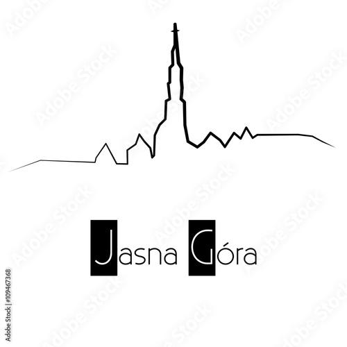 Jasna Góra / Klasztor Jasnogórski - panorama - fototapety na wymiar