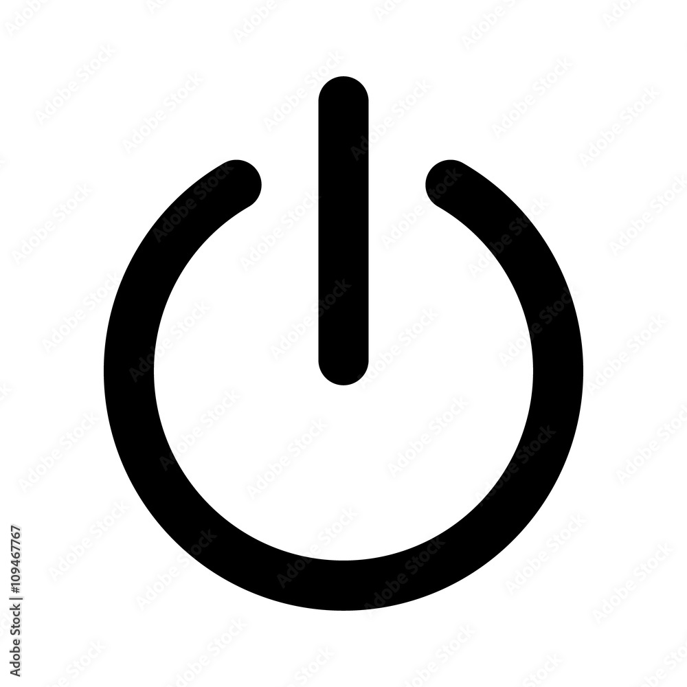 Fototapeta Power on or turn power off flat icon for apps and websites