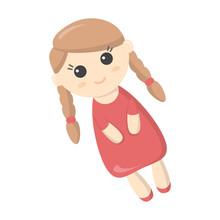 Doll Cartoon Icon. Illustratio...