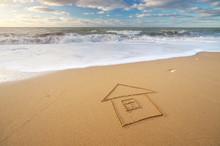 Sea And Home On The Sea Sand