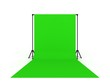 canvas print picture - Photo Studio with Green Screen a isolated on white background