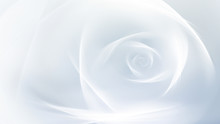 Abstract Fractal White Rose