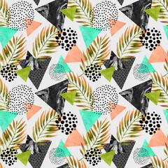 Fototapeta samoprzylepna Abstract summer geometric seamless pattern