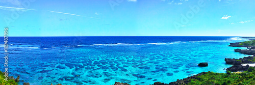 Photo Stands Turquoise 真夏のイムギャーマリンガーデンの風景