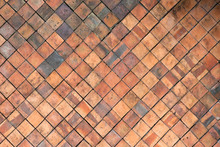 Terracotta Tiles Wall For Abst...