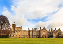 NEWSTEAD, ENGLAND - APRIL 30: View Of Newstead Abbey, From The East. At Newstead Abbey, Newstead, Nottinghamshire, England. On 30th April 2016.