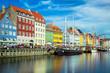 canvas print picture Nyhavn in Copenhagen, Denmark