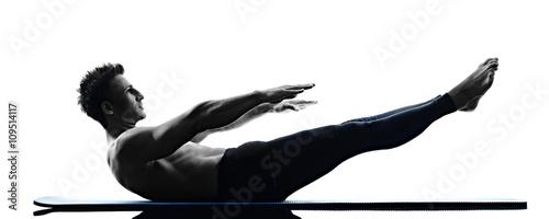Cuadros en Lienzo man pilates exercises fitness isolated