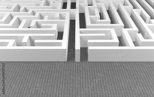 Maze background, complex problem solving concept Canvas-taulu