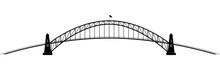 Openwork Parabolic Contour Of The Metall Bridge
