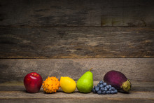 Rainbow-colored Fruit And Vege...