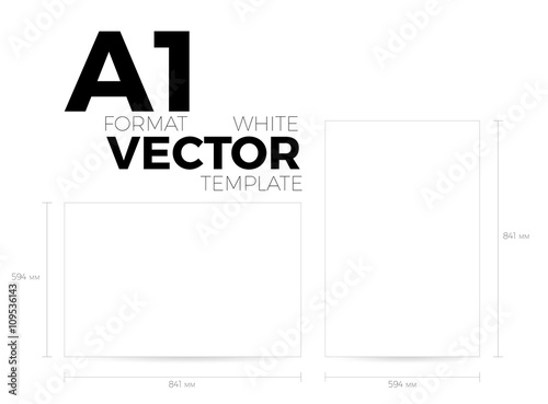 Αφίσα A1 page format white vector eps10 template