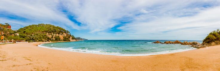 Panorama de Crique et plage à Blanes