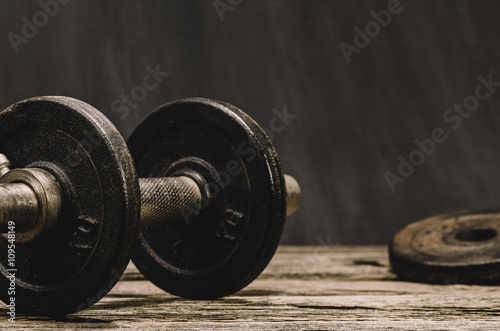 Fotografia  Fitness or body building concept image