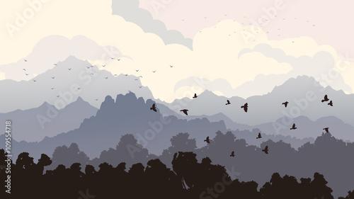 horyzontalna-ilustracja-kierdel-ptaki-i-las-z-mounta