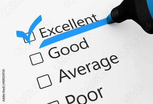 Fotografía Excellent Quality Customer Checklist Survey